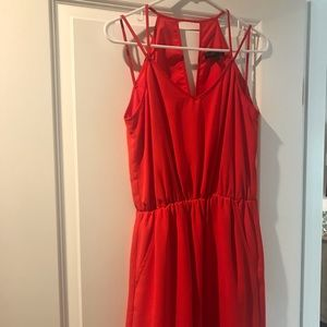 Banana Republic Red Strappy Mini Cocktail Dress
